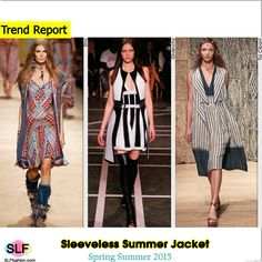 Sleeveless Summer Jacket Trend for Spring Summer 2015.Etro, Givenchy, and Tia Cibani #Spring2015 #SS15 #Jacket
