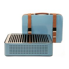 Mon Oncle Blue Portable Barbecue ($395) ❤ liked on Polyvore featuring home, home improvement and household appliances