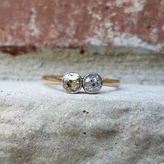 Antique Engagement Ring Edwardian Old Mine by CypressCreekVintage