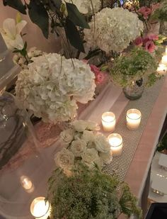 Beautiful flowers and candlelight set up by The Flower Studio Online. Flower Studio, Event Planning, Beautiful Flowers, Table Decorations, Home Decor, Kitchens, Decoration Home, Room Decor, Home Interior Design
