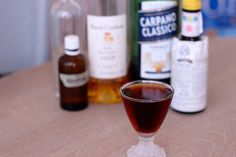 Star Cocktail (Lommebogen): cognac, sweet vermouth, absinthe, angostura, simple syrup