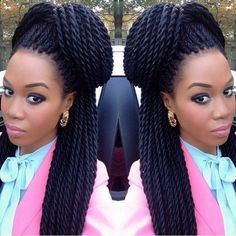 Senegalese Twist Hairstyles - How To Do, Hair Type, Pictures My Hairstyle, Twist Hairstyles, African Hairstyles, Cool Hairstyles, Wedding Hairstyles, Twist Styles, Braid Styles, Twisted Hair, Natural Hair Styles