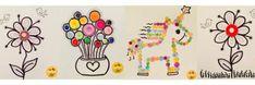Creatief met knopen en knoopjes - knutseltips | knoopjes | knutselen | knopen | De Knutseljuf Ede Diy And Crafts, Kids, Home Decor, Google, Craft Work, Young Children, Children, Kid, Interior Design