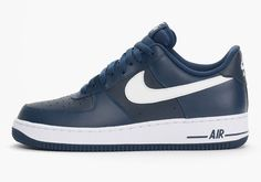 """New post on Getmybuzzup- Nike Air Force 1 Low """"Midnight Navy"""" [Kicks]- http://getmybuzzup.com/?p=572790- #AirForce1, #Nike, #SneakersPlease Share"""