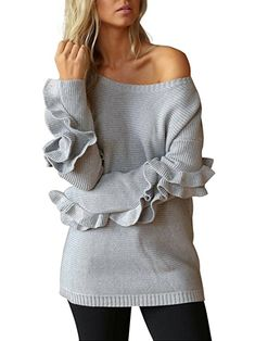 Women's Pullover Sweaters One Shoulder Knit Sweater Ruffles Knitted  #sweater #womenfashion #Pullovers pullovers | pullovers sweatshirts | pullovers half zip | pullovers preppy | pullovers nike | Angie Welch | Aundria Rockwell | Pullovers, Jackets, etc. | Pullovers | Pullovers - Tanks - Tees |