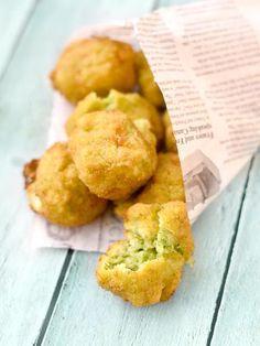 Boulette de courgette coeur coulant mozzarella - Recette de cuisine Marmiton : une recette