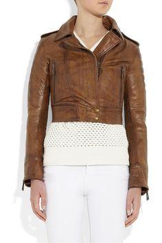 Belstaff Seaton cropped leather biker jacket