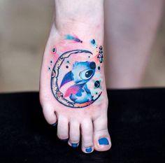 Stitch tattoo.  #stitch #space #tattoo