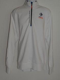 RLX Ralph Lauren White Half Zip Long Sleeve Sweatshirt FREE Shipping  Size:  XXL #RLXRalphLauren #Sweatshirt
