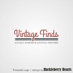 Premade Logo, Retro Logo Design, Premade Typography Logo, Custom Business Logo. A beautiful premade logo, customized with your business name