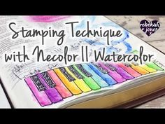 Stamping and Neocolor II Watercolor - Bible Art Journaling Challenge Lesson 4 My Bible, Bible Art, Bible Verses, Bible Guide, Catholic Bible, Art Tutor, Bible Illustrations, Illustrated Faith, Distress Ink