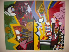 Painting title Check Mate Overload  130  -  160  - 3  cm  Acrylic paint on canvas  Artist  Nicholas Dukliaskos