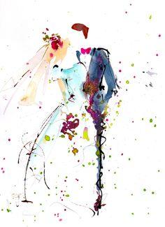 Faire-part Mariage - AquaNell- Aquarelles mariages