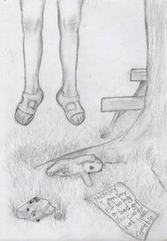 Image result for depression drawings in pencil