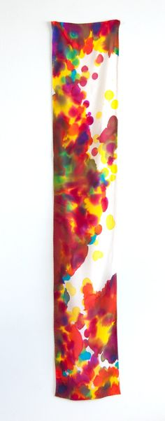 Hand Painted Silk Scarf Catherine One of a by littlethingsstudio, $100.00