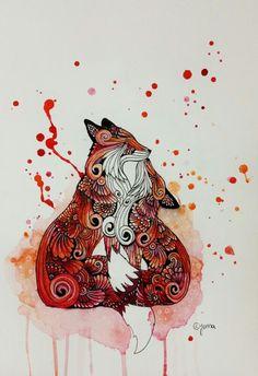 Imagem de art and fox