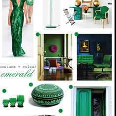 Obsessed with everything green at the moment. Inspiration:)