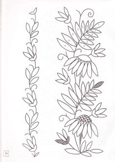 Discussion on LiveInternet - Russian Service Online Diaries Floral Embroidery Patterns, Crewel Embroidery, Hand Embroidery Designs, Embroidery Applique, Beaded Embroidery, Cross Stitch Embroidery, Quilled Creations, Wool Applique, Needlework