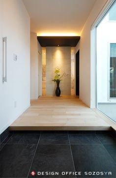 Loft Interior Design, Home Office Design, Interior Architecture, House Design, Japanese House, Japanese Door, Japanese Interior Design, Entry Way Design, Loft Interiors