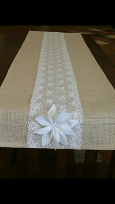 New Wedding Table Runner Diy Burlap Ideas Lace Table Runners, Burlap Table Runners, Lace Runner, Wedding Table Flowers, Wedding Tables, Lace Wedding, Trendy Wedding, Wedding White, Diy Wedding