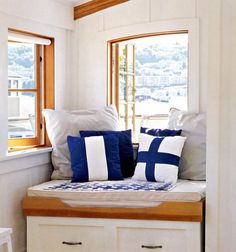 """Window Seat with Rollaway Bed (From """"Inside the Not So Big House"""" by S. Susanka)"""