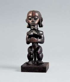 FEMALE RELIQUARY FIGURE, BIERY, 19TH/20TH CENTURY Unknown Betsi master from the southern Fang region