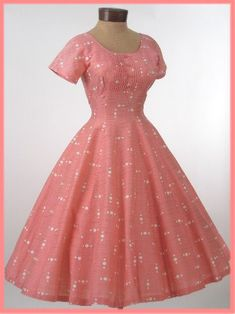 Authentic 50s Vintage Pink Lace Sweetheart Style Prom Wedding ...