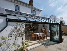 Lean to Orangery Extension Orangerie Extension, Extension Veranda, Conservatory Extension, Glass Extension, Conservatory Dining Room, Lean To Conservatory, Extension Ideas, Style At Home, Door Design