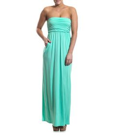 Love this Mint Side-Pocket Strapless Maxi Dress by Coveted Clothing on #zulily! #zulilyfinds