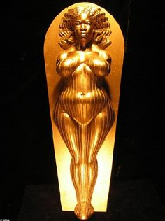 """The Oprah Sarcophagus"" by Daniel Edwards, an homage to Venus of Willendorf."