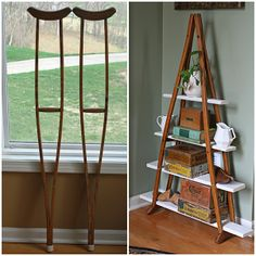 An interesting idea how to use crutches