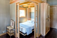 West Coast Homes | San Juan Park Model for Wildwood Lakefront Cottages | Flex room with Murphy bed