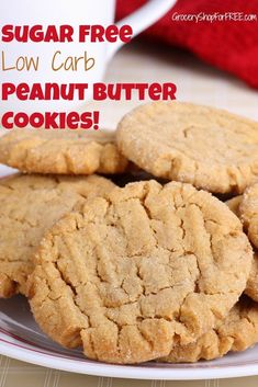 Looking for a quick & healthy snack? Check out this Keto Peanut Butter Cookies: Sugar Free & Low Carb Recipe! Sugar Free Low Carb Recipe, Sugar Free Cookie Recipes, Sugar Free Deserts, Sugar Free Baking, Low Carb Recipes, Diabetic Recipes, Diabetic Desserts Sugar Free Low Carb, Sugar Free Snacks, Carb Free Deserts