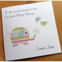 Handmade Personalised Baby Shower Card