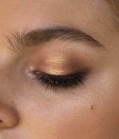 shimmery gold shadow