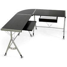 Baxton Studio Elburn L Shaped Modern Computer Desk