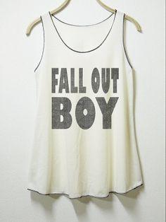 Fall out boy tank women tank top off white shirt  by MGcafe, $14.99 AHHHH
