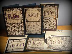 Handmade Purim Cards via Etsy.