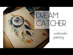 How to paint feathers with watercolors step by step - YouTube
