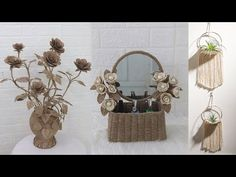 5 Jute craft ideas   Home decorating ideas handmade 2021 - YouTube Jute Crafts, Decorating Ideas, Craft Ideas, Youtube, Handmade, Home Decor, Tutorials, Manualidades, Macrame Patterns