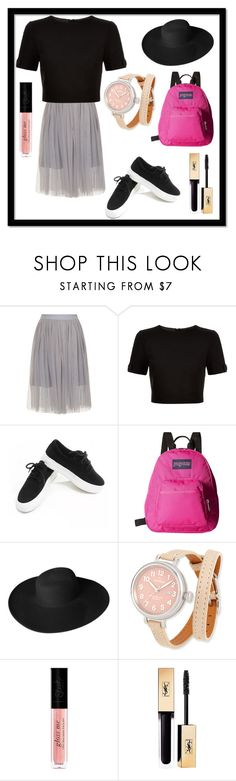 """""""square"""" by nadhiraxs on Polyvore featuring Ted Baker, Chicnova Fashion, JanSport, Dorfman Pacific, Shinola and Yves Saint Laurent"""
