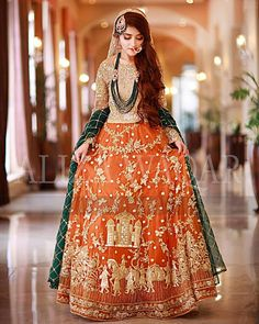 Mehndi Outfit - Mehndi is the memorable and momentous event in the whole wedding. Pakistani Mehndi Dress, Dulhan Dress, Bridal Mehndi Dresses, Bridal Dress Design, Pakistani Bridal Wear, Pakistani Dress Design, Mehendi, Pakistani Suits, Bridal Lehenga