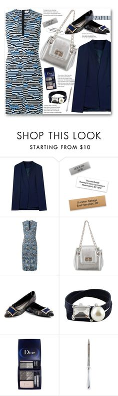 """""""Spring Work Wear"""" by beebeely-look ❤ liked on Polyvore featuring Scanlan Theodore, Chanel, Christian Dior, Christofle, WorkWear, dress, blazer, springfashion and zaful"""