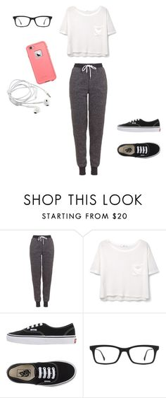 """""""Untitled #20"""" by jaimelauren ❤ liked on Polyvore featuring Topshop, MANGO, Vans, Ray-Ban, LifeProof, women's clothing, women, female, woman and misses"""