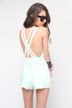 Strappy Mint Playsuit