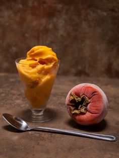 The Colors Of Indian Cooking: Persimmon Ice Cream. No Dairy, No Sugar, No Time. Fast Fast Fast!