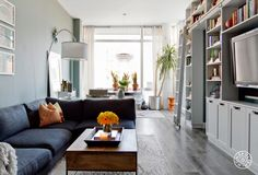A Couple's East Village Paradise by Homepolish New York City https://www.homepolish.com/mag/village-blues