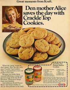 Kraft Peanut Butter ad - Crackle Top Peanut Butter Cookies