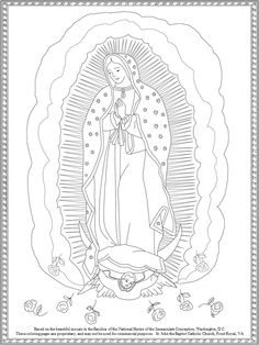 Free Our Lady of Guadalupe coloring page from St. John the Baptist