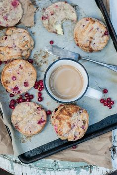 FLAKY RED CURRANT AND CHEVRE SCONES WITH CARDAMOM